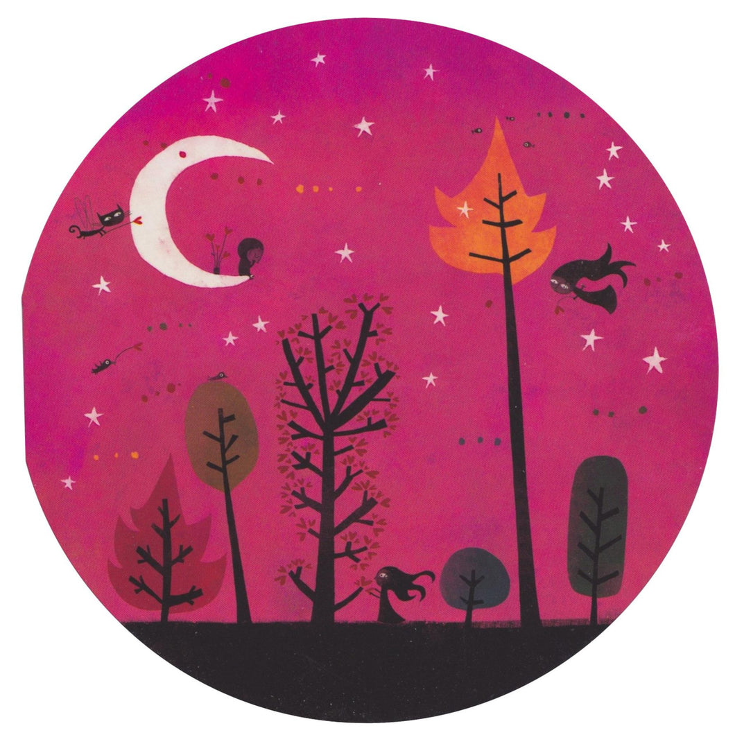 Greeting Card - GO6 - The Crescent Moon - Lavender Home London
