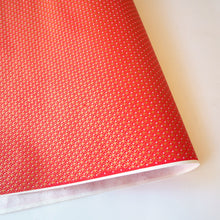Yuzen Washi Wrapping Paper red gold overlay pattern