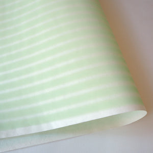 Yuzen Washi Wrapping Paper mint stripe pattern