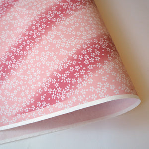 Yuzen Washi Wrapping Paper HZ-068 - Small Cherry Blossom Purple Gradation - washi paper - Lavender Home London