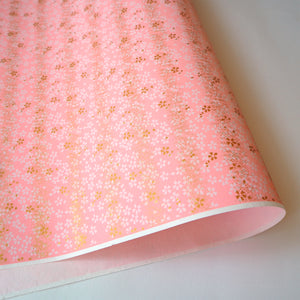 Yuzen Washi Wrapping Paper HZ-128 - Cherry Blossom Pink - washi paper - Lavender Home London