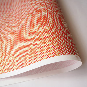 Japanese Yuzen Washi Wrapping Paper red geometric pattern