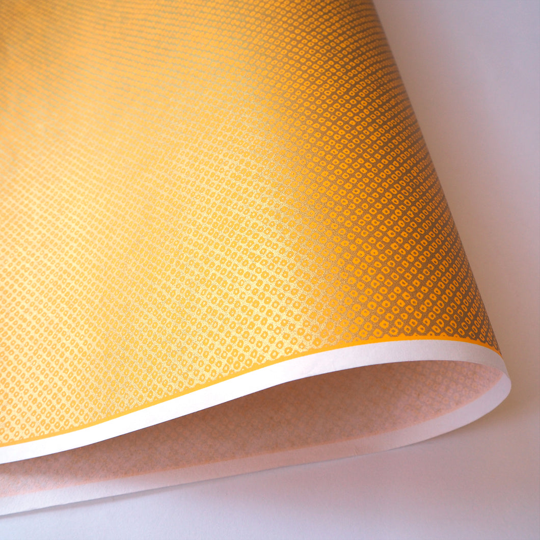 Yuzen Washi Wrapping Paper gold dots pattern