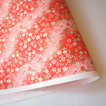Yuzen Washi Wrapping Paper flower pattern