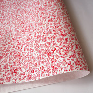 Japanese Yuzen Washi Wrapping Paper red rose