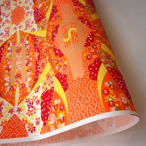 Yuzen Washi Wrapping Paper HZ-355 - Mirage Orange - washi paper - Lavender Home London