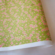 Yuzen Washi Wrapping Paper HZ-379 - Pink Cherry Blossom Matcha - washi paper - Lavender Home London