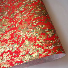 Yuzen Washi Wrapping Paper HZ-396 - Fishing Nets & Whirlpool Red - washi paper - Lavender Home London