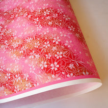 Yuzen Washi Wrapping Paper HZ-475 - Cherry Blossom & Deer's Spots - washi paper - Lavender Home London