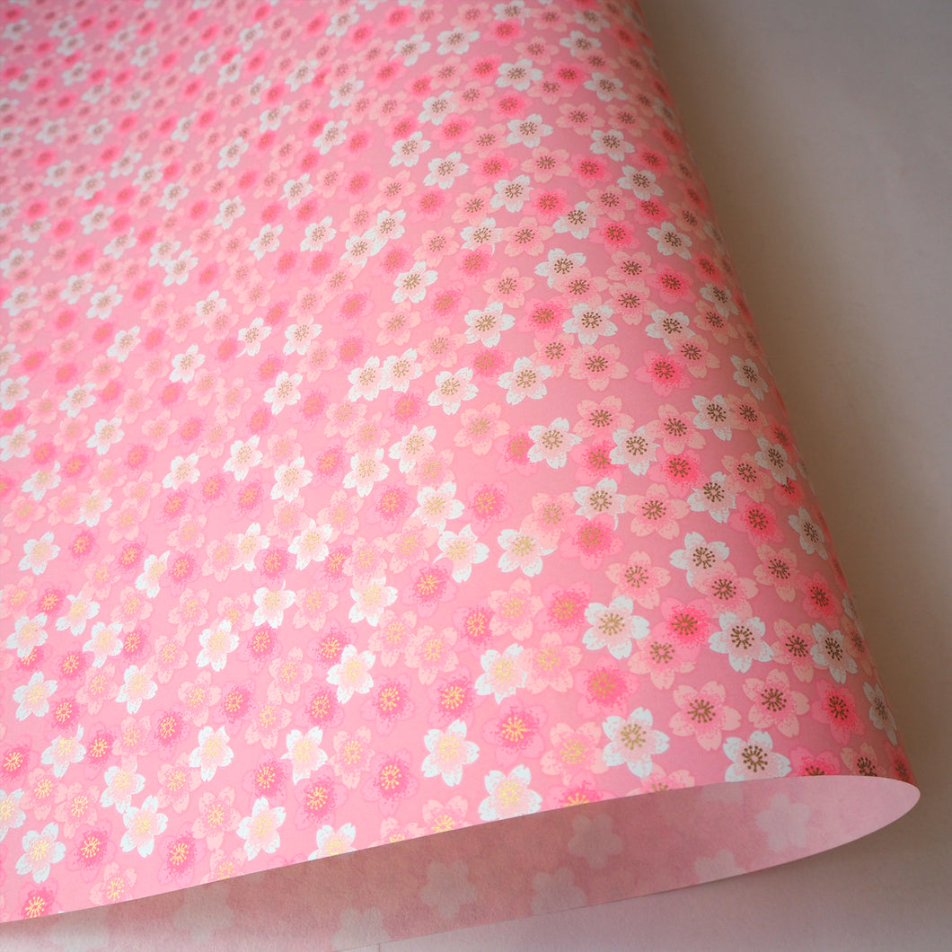 Yuzen Washi Wrapping Paper HZ-504 - Pink Shades Cherry Blossom - washi paper - Lavender Home London
