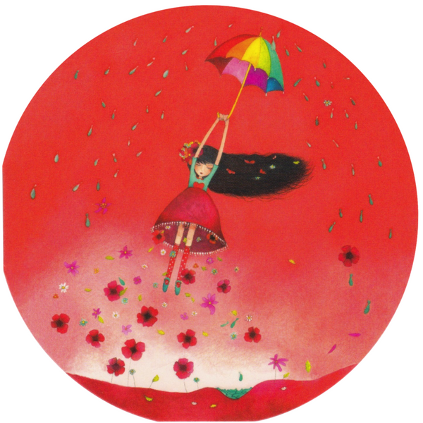 Mini Greeting Card - Rainbow Umbrella