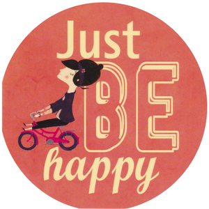 Mini Greeting Card - Just Be Happy - Cards - Lavender Home London