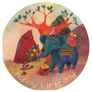 Mini Birthday Card - Happy Birthday Elephant - Cards - Lavender Home London