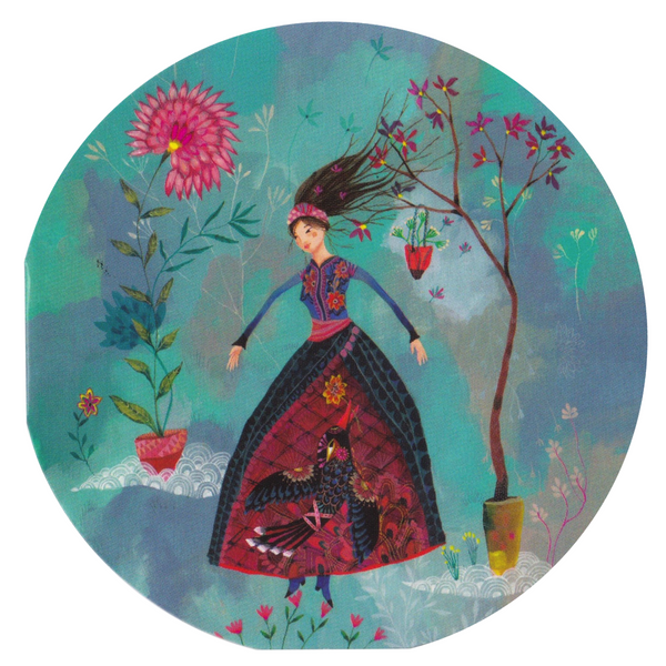 Mini Greeting Card - HO5 - Lady in the Garden - Lavender Home London