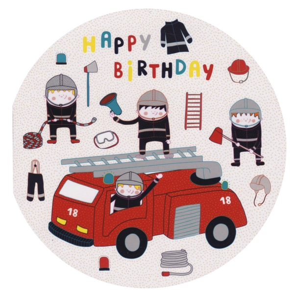 Birthday Card - Happy Birthday Firemen - Cards - Lavender Home London
