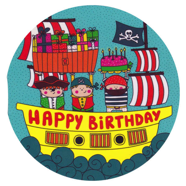Mini Birthday Card - RM46 - Happy Birthday Pirates - Lavender Home London