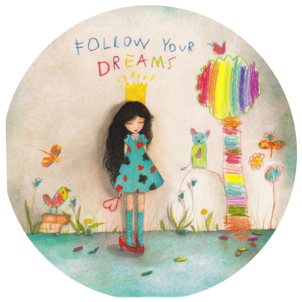 Mini Greeting Card - HO19 - Follow Your Dreams - Lavender Home London
