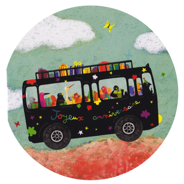 Birthday Card - The Birthday Bus - Cards - Lavender Home London