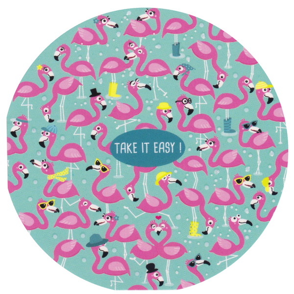 Mini Greeting Card - HO39 - Take it Easy Flamingos - Lavender Home London