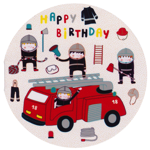 Mini Birthday Card - RM44 - Happy Birthday Firemen