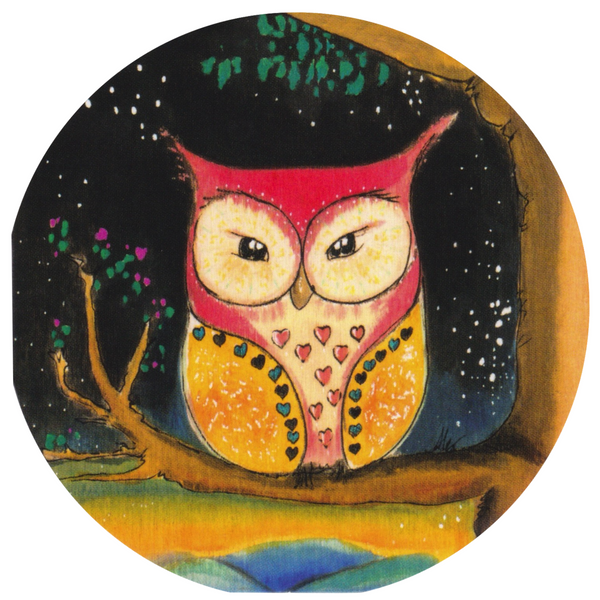 Mini Greeting Card - HO35 - Owl in the Night - Lavender Home London