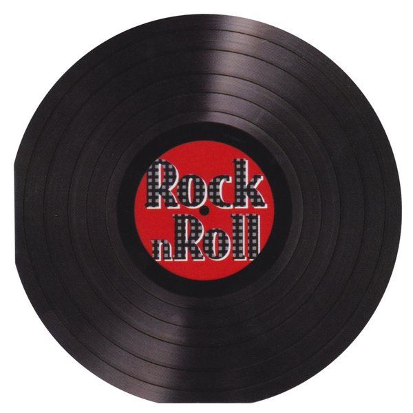 Mini Greeting Card - Rock n Roll Vinyl Record