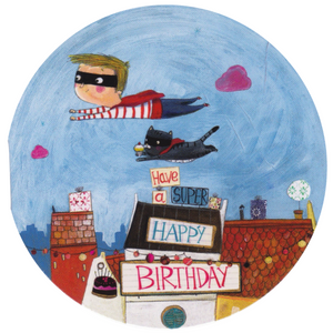Mini Birthday Card - Happy Birthday Super Boy - Cards - Lavender Home London