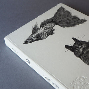 Animal Series Floating Zoo Sketchbook No.08 - Flying Fish & The Cat - Stationery - Lavender Home London
