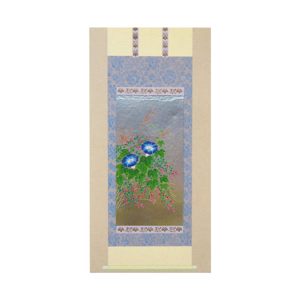 Japanese Art Greeting Card - Flowering Blue Morning Glory - Cards - Lavender Home London