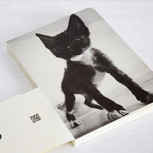 Scar & Black Bean Cats Lined Notebook - Black Bean 02 - Stationery - Lavender Home London