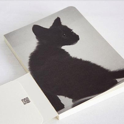 Scar & Black Bean Cats Lined Notebook - Black Bean 03 - Stationery - Lavender Home London