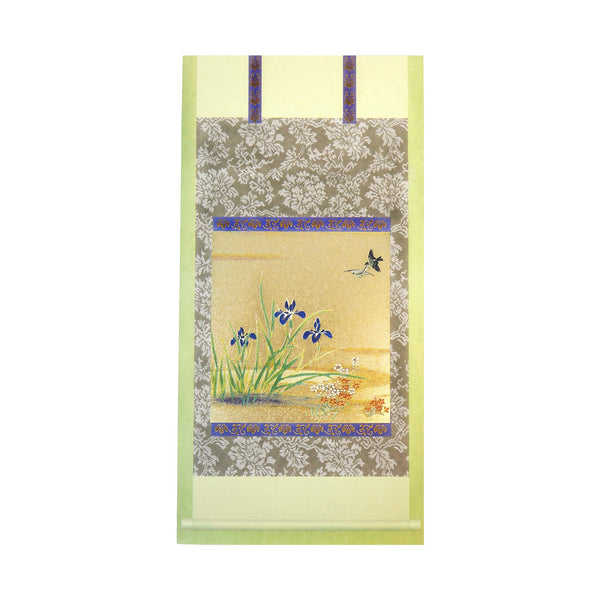 Japanese Art Greeting Card - Blue Irises by the River