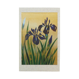 Japanese Art Greeting Card - Iris - Cards - Lavender Home London