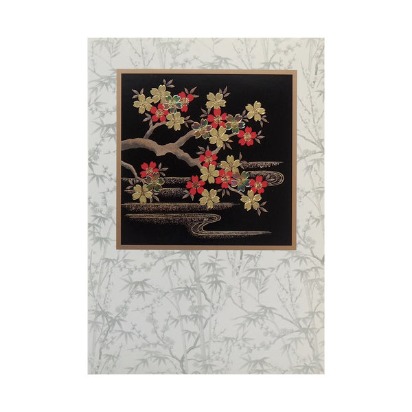 Japanese Art Greeting Card - Night Sakura - Cards - Lavender Home London