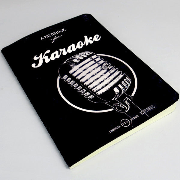 Life Document Paperback Notebook- KARAOKE - Stationery - Lavender Home London