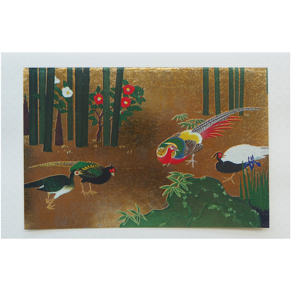 Japanese Art Greeting Card - Pheasants - Cards - Lavender Home London