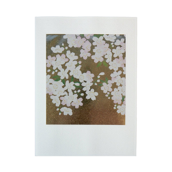 Japanese Art Greeting Card - Flowering Pink and White Sakura Branch - Cards - Lavender Home London