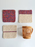 HAND KNITTED COASTERS- REF B001