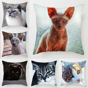 Cat Throw Pillow Covers