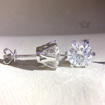 Moissanite Diamond Earrings