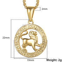 Zodiac Gold Pendant Necklaces