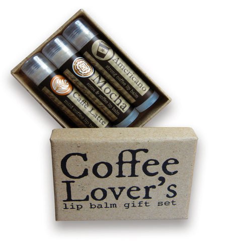 Coffee lip balm gift set