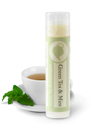 Green tea and mint lip balm