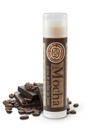 Coffee and chocolate mocha lip balm