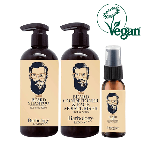 Barbology London Beard Shampoo, Conditioner & Oil 3Pcs Set in UK