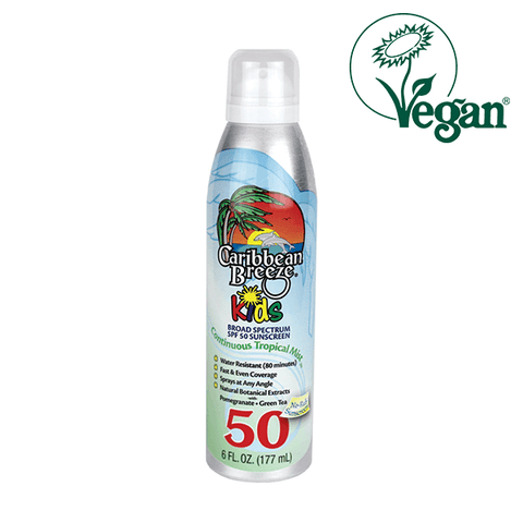 Caribbean Breeze SPF 50 Kids Continuous Tropical Mist Sunscreen in UK