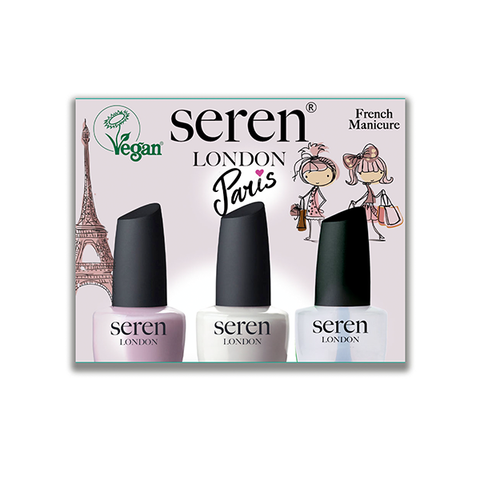 Seren London Vegan Paris French Manicure Gift Set in UK