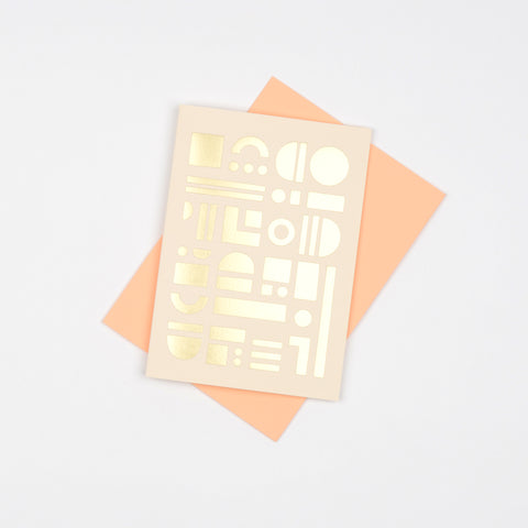 Artefact Card Brass & Peach