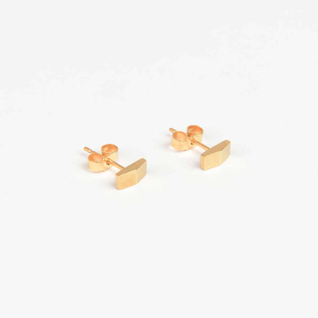 Béton Apex Earrings Gold