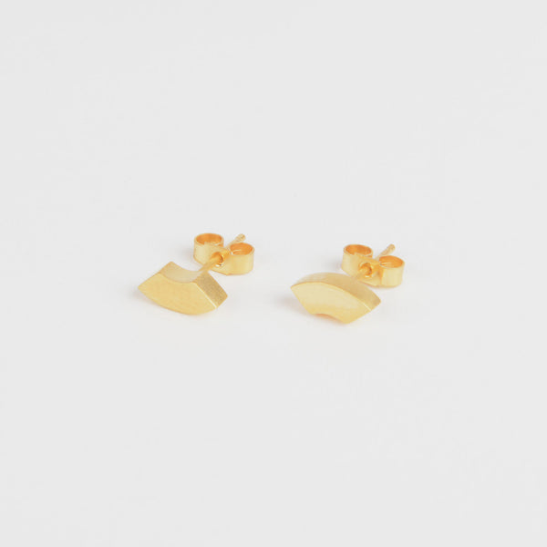 Béton Arc Earrings Gold